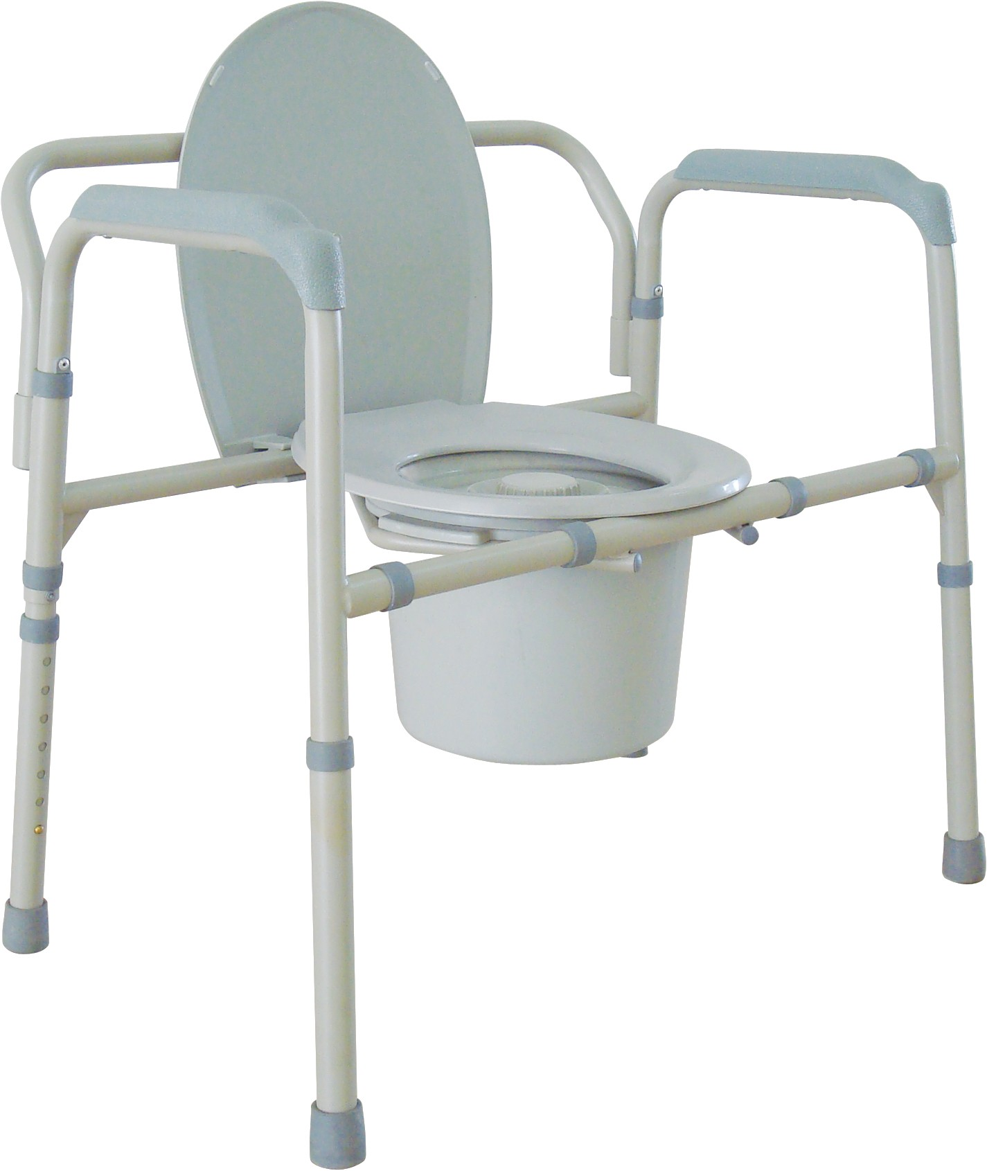 Bariatic Steel Commode Enlarged
