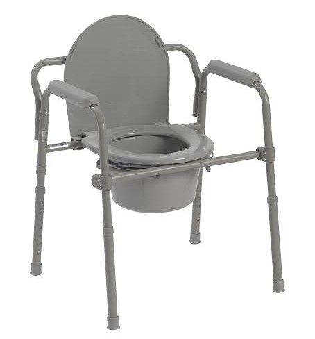 Folding Steel Commode Enlarged