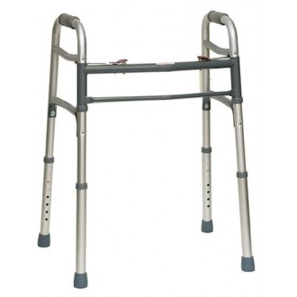 Deluxe 2-Button Folding Walker Enlarged